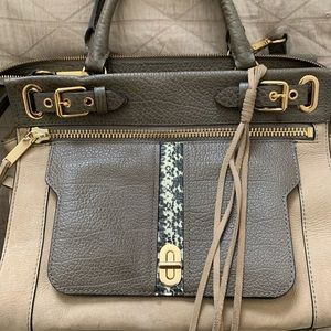 Rebecca Minkoff Leather/Suede/Snake Bag